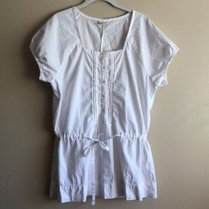 J. Jill Womens White 100% Cotton Blouse Size L